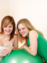 Two girls touching their teenagers private parts
