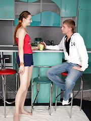 European teens couple fucking