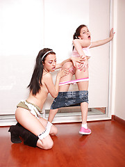 More hot lesbian action from two latin girl