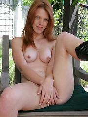 Redhead girl Kester solo masturbation