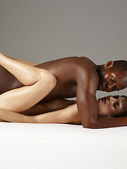 Black guy fucks young skinny model