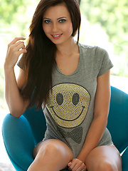 Teen model with smiley face and tiny tits - Natasha Belle