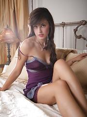 Erotic scene in purple dress from Autumn Riley