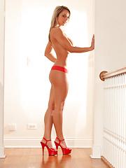 Nikki in a Red Dress
