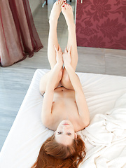 Denisa Heaven\'s gorgeous body with sexy curves and creamy smooth skin, pink, perky nipples, and alluring face defined by pouty, red lips makes an engagingly delightful series.