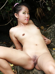 Cute little Mica gets naked in the woods to pleasure our greedy eyes