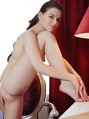 With her beautiful eyes, gorgeous puffy   breasts, sexy lean legs, and her   effortless sultry personality, Valeria is   a pro in the art of eroticism and   seduction.