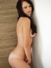 Very beautiful brunette bares her body