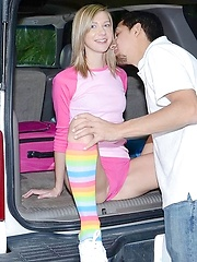 He couldnt think of anything else but pulling over and fucking her tight body