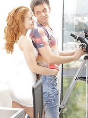 Hot red-haired teen with perky tits fucked all styles