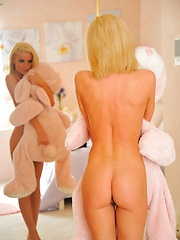 Heather in the pink room