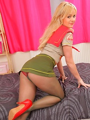 Sexy scout girl feels naughty and removes her uniform.