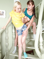 Lovely story about two best friends giving perfect tenderness to each other. Extra hot girl on girl photo set. Master work.