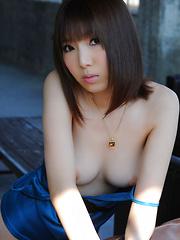 Kurara Horie Asian shows such appetizing butt and lustful assets