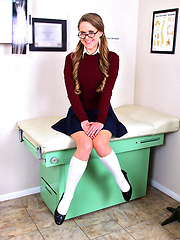 Mini skirt high school teen nailed hard by the dentist in these masturbation fucking cum faced office fuck pics