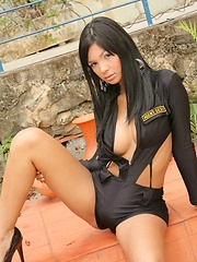 Karla is a sexy little officer who strips down