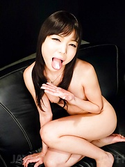 Megumi Shino Asian sucks shlong till cum pours from her mouth