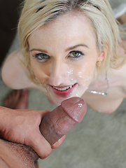 Young sweet blonde wants to show us how a cowgirl rides the dick