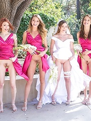 Amazin good looking horny lesbian brides made eat out the bride at the weeding