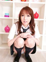 Hot babe Izumi Tachibana shows her small tits