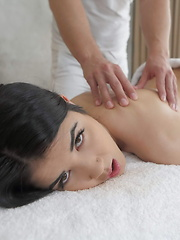 Lovely teen gets an extra service in the massage parlor