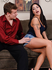 Jerry thinks his sister's friend Jenaveve Jolie is hot, but he's worried his sister won't approve. But after his sister hooks up with Jenaveve's brother, all bets are off and they are fucking like rabbits on the couch. If rabbits do the 69, that is.