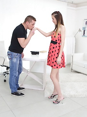 Lovely starlet making her way into big business after hot sex with the casting producer.