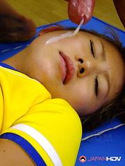 Slutty darling Yui Aoyama in a hot threesome