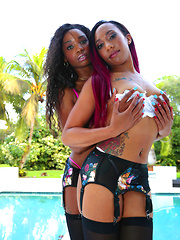Watch roundandbrown scene ass sandwich featuring mya mays browse free pics of mya mays from the ass sandwich porn video now
